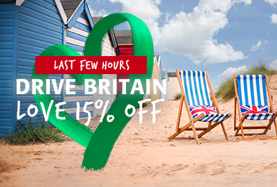 15% off Britain – Ends at midnight
