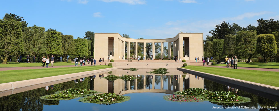 American cemetery of Colleville-sur-Mer