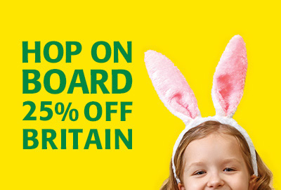 Hop on board to Britain with 25% off