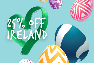 25% off Ireland - A sweet deal for you this Easter
