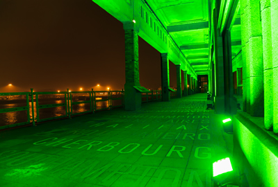 Cherbourg turns green for St Patricks Day