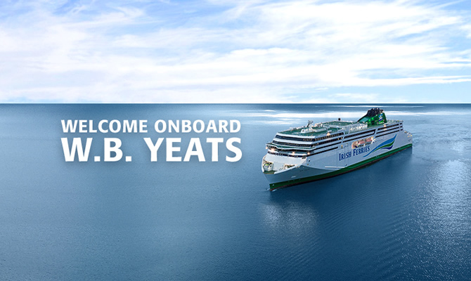 W B  Yeats Luxury Cruise Ferry | Irish Ferries