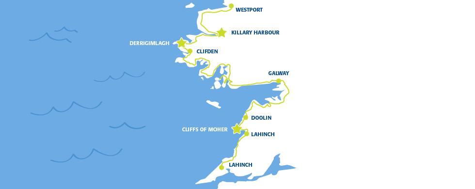 Map Of Ireland Doolin.Driving From Mayo To Clare Wild Atlantic Way Irish Ferries